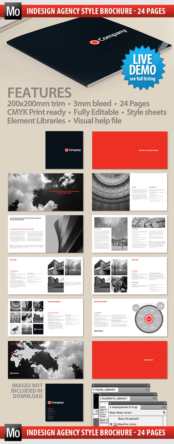 Creative agency brochure indesign template matthew olding for Indesign templates brochure