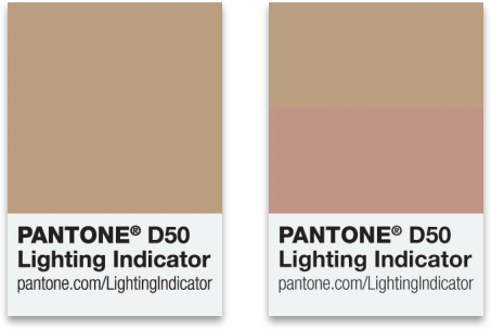 Pantone D50 Lighting Indicator