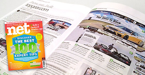 Top Gear website featured in .Net magazine