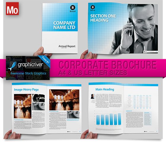 Corporate Brochure Template for Indesign