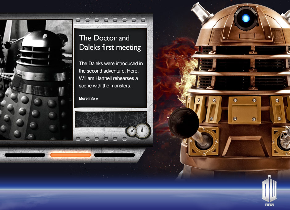 Doctor Who 50th Anniversary Website slider elements