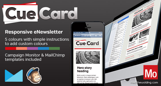 CueCard - Free Responsive Email Template