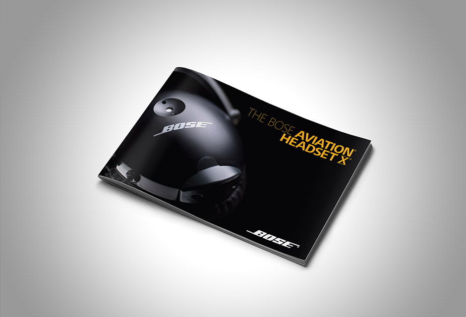 Bose Aviation Headset X Brochure Cover