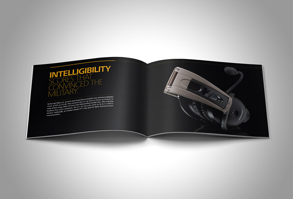 Bose Aviation Headset X Brochure spread
